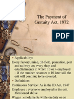 The Payment of Gratuity Act, 1972 MT