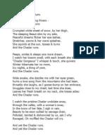 Chadar Notes Excerpts - Chittaranjan Desai - Bookaholics Open Mic Forum 23rd Jun 2013