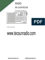 Tecsunradio PL 380 English Manual PDF