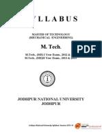 SYLLABUS- M TECH Mechanical_Engineering- JNU