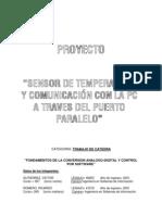 Manual de Electronic A - Proyecto de Sensor de Temperatura y Representacion en El Pc