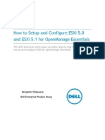 How to Setup and Configure ESXi 5 for OME