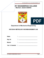 147585850 Metrology Lab Manual Covai