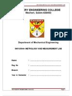 147585850 Metrology Lab Manual Covai