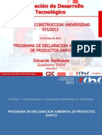 Programa de Declaración Ambiental de productos DAPCO