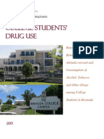 Report of the Behavioural Study of Attitudes Toward and Consumption of ATODs Among College Students in Bermuda w Qnaire