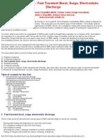 Fast Transient Burst, Surge, Electrostatic Discharge)