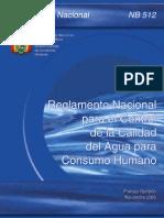 NB 512 Reglamento Control de Calidad del Agua para Consumo H.pdf