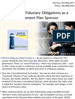 Know Your Fiduciary Obligations as a Retirement Plan Sponsor