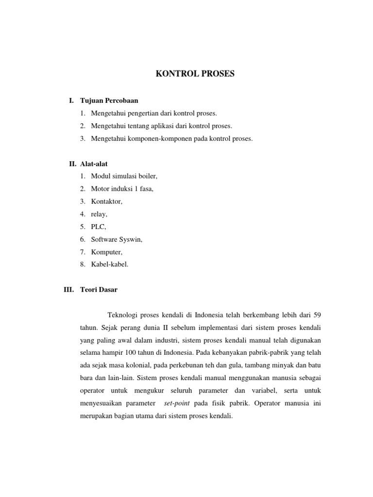 Praktikum 5 - Kontrol Proses
