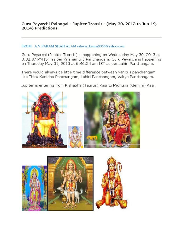 Guru peyarchi palangal 2013 planets in astrology interest