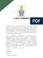 O RITO MODERNO - Por Renato Rodrigues Da Silva e Joaquim Da Silva Pires