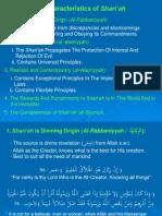 The Characteristics of Shariah