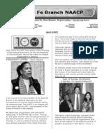 Santa Fe NAACP Newsletter APRIL 2009