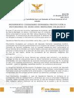 MOVIMIENTO CIUDADANO DEMANDA PROTECCIÓN A  DEFENSORES DE DERECHOS INDÍGENAS EN JALISCO