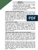 ORAÇÃO - I Tm 2.8