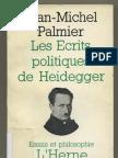 Jean-Michel Palmier - Les écrits politiques de Heidegger