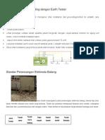 Cara Mengukur Grounding Dengan Earth Tester