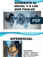 Mantenimiento Al Diferencial y a Los Mandos Finales