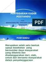 Penyegaran Kader Posyandu Desa