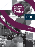RECOM Initiative !Voice 15-2013