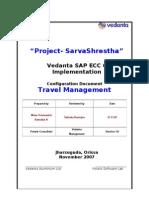 VAL Travel Management Configuration