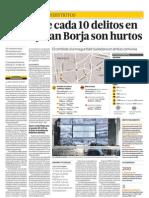 Cuatro de Diez Delitos en Surco y San Borja Son Hurtos