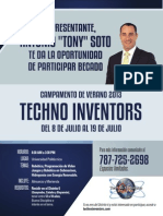 Representante Antonio Soto te da la oportunidad de participar becado Campamento de Verano Techno Inventors