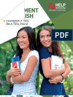 Artment of English FTESL and BATESL Brochure