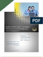 Análisis Crítico al E-learning. María Parra