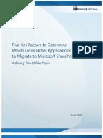 BT WhitePaper FiveFactorsSharePointMigration Apr2009[1]