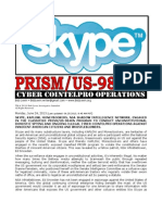 Skype NSA Shadow Intelligence Network