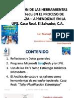 Utilización herramientas de Live@edu en el proceso de enseñanza aprendizaje UFG