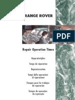 Range Rover Classic MY95 - Tiempos de Trabajos de Reparacion