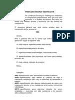 CLASIFICACION DE LOS ACEROS SEGÚN ASTM