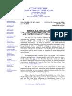 COIB Press Release & Disposition (DOE)