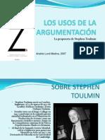 El Uso de La Argumentacion de Stephen Toulmin