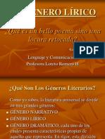 EL GÉNERO LÍRICO
