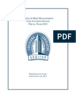 Office of Risk Management - Legislative Auditor's report