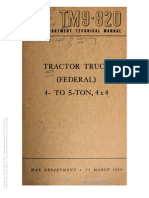 Tm 9-820 TRUCK TRACTOR FEDERAL 4- TO 5-TON
