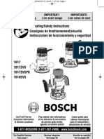 Bosch Router 1617 EVS - Owner's Manual
