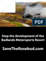 Opposition to Badlands Motorsports Resort