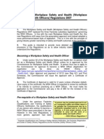(26) Guide to the Workplace Safety and Health (WSHO) Regulations 2007
