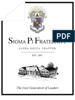 2013 Sigma Pi Rush Book