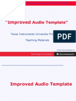 Chapter 2 Improved Audio Template