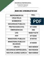 Directorio Emergencias