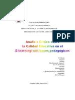 Analisis Critico Sobre La Calidad Educativa en El E-learning_dayana Suarez