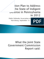 Action Plan for Indigent Defense in Pennsylvania by PDA