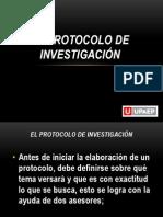 4.-El protocolo de investigación