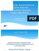 Neurodiversity- Autism Spectrum and Other Disorders- DIR Floortime Approach in Early Intervention 2013 0404